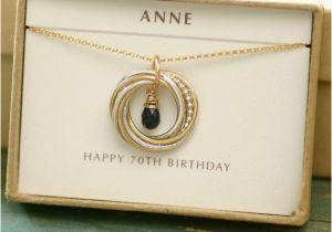 70th Birthday Gift Ideas For Her Blue Sapphire Necklace September