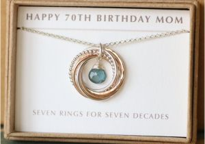 70th Birthday Gift Ideas For Her Mom Aquamarine Necklace March
