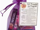 70th Birthday Gift Ideas for Her 70th Birthday Survival Kit Gift 70th Gift Gift for 70th