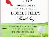 70th Birthday Gifts for Him Golf Golf Tee 70th Birthday Invitations Paperstyle