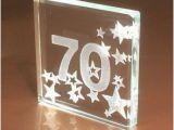 70th Birthday Gifts for Man Happy 70th Birthday Gift Ideas Spaceform Glass Keepsake