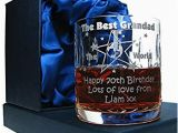70th Birthday Ideas for Him 70th Birthday Whisky Glass for Him Personalised 70th