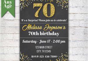 70th Birthday Invitation Card Sample 14 Templates Designs