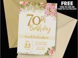 70th Birthday Invitation Card Sample 14 70th Birthday Invitation Card Templates Designs