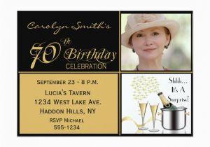 70th Birthday Invitation Card Sample Party Invitations Templates