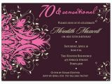 70th Birthday Invitation Card Sample andromeda Pink 70th Birthday Invitations Paperstyle