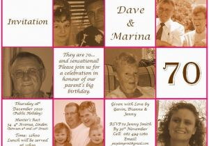 70th Birthday Invitations For Dad Invite Pinterest 70