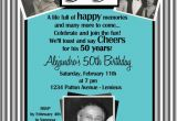 70th Birthday Invitations for Dad Milestone Birthday Party Invitation Gray Stripes