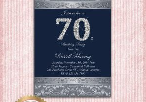70th Birthday Invitations For Her Party Templates