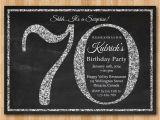 70th Birthday Invite Wording 70th Birthday Party Invitations Party Invitations Templates
