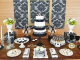 70th Birthday Party Decorations Ideas Gold Black Damask 70th Birthday Party Birthday Party