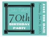 70th Birthday Save the Date Cards Retro Frame 70th Birthday Party Save the Date Postcard
