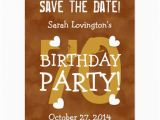 70th Birthday Save the Date Cards Save the Date 70th Birthday Party V70b Gold Postcard Zazzle