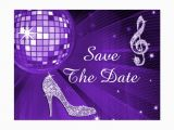 70th Birthday Save the Date Cards Sparkly Stiletto Heel 70th Birthday Save the Date Postcard
