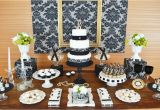 70th Birthday Table Decorations Gold Black Damask 70th Birthday Party Birthday Party
