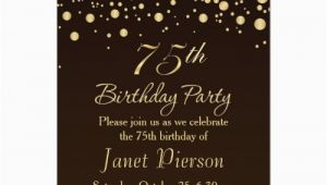 75th Birthday Card Ideas the Best 75th Birthday Invitations and Party Invitation