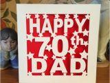 75th Birthday Cards for Dad Dad 70th Birthday Card 30th 40th 50th 60th 75th