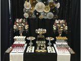 75th Birthday Decoration Ideas 75th Birthday Party Black Tie Sweets Table Milestone