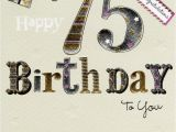 75th Birthday Greeting Cards Happy 75th Birthday Foiled Greeting Card Cards Love Kates