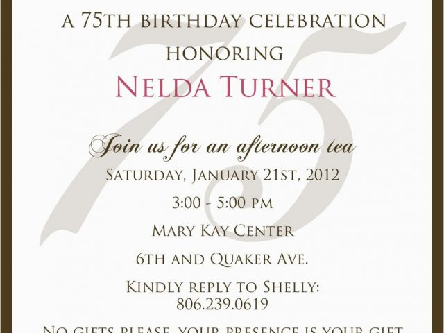 Download By SizeHandphone Tablet Desktop Original Size Back To 75th Birthday Party Invitation Wording