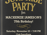 75th Birthday Party Invitation Wording the Best 75th Birthday Invitations and Party Invitation