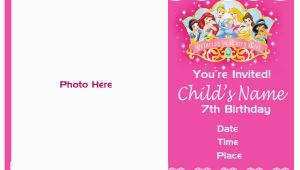7th Birthday Invitation for Girl Pinktinyshop Photo Invites for 7th Birthday Girl