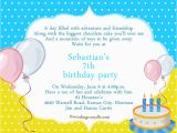 7th Birthday Invitation Message 7th Birthday Invitation orderecigsjuice Info