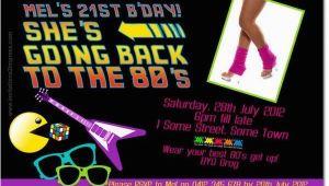 80 S themed Birthday Invitations 80s theme Party Invitations A Birthday Cake