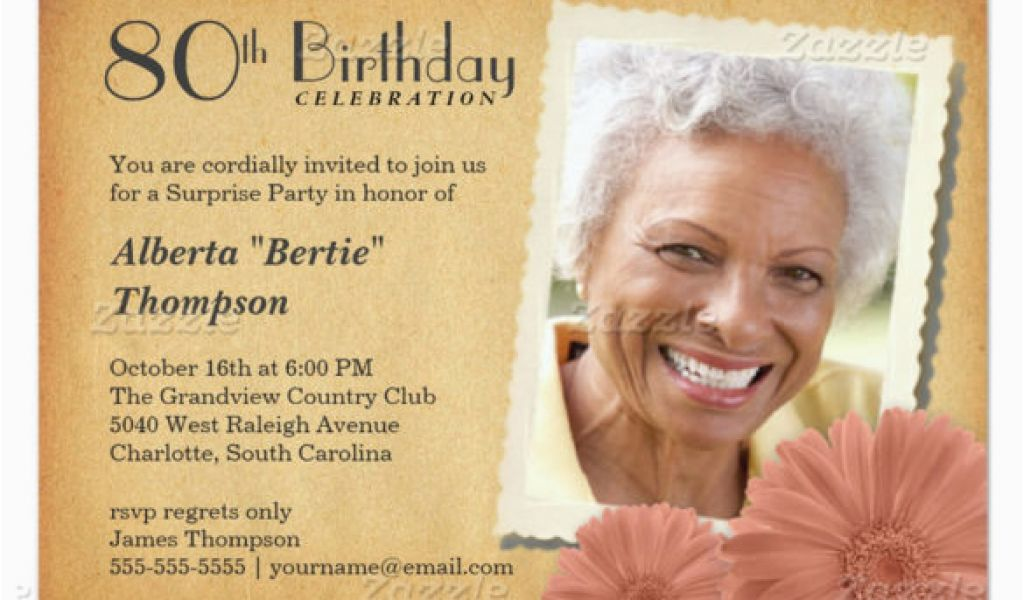 80 Year Old Birthday Party Invitations 26 80th