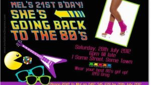 80s themed Birthday Party Invitations 80s theme Party Invitations A Birthday Cake