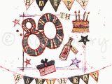 80th Birthday Card Designs 80th Birthday Card Vintage Birthday Cards Happy 80th