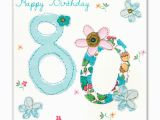 80th Birthday Card Messages Flowers 80th Birthday Card Karenza Paperie