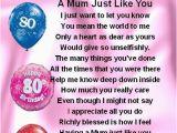 80th Birthday Cards for Mom Fridge Magnet Personalised Mum Poem 80th Birthday