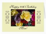 80th Birthday Cards for Mom Mom 39 S 80th Birthday Greeting Cards Zazzle