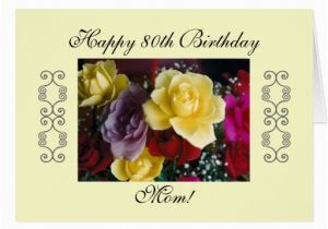 80th Birthday Cards For Mom 39 S Greeting Zazzle