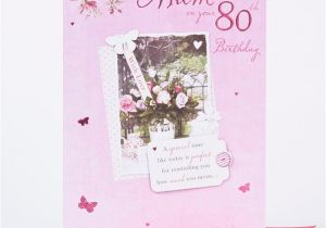 80th Birthday Cards for Mum 80th Birthday Card Mum Rose Design Only 1 49