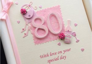 80th Birthday Cards for Mum Personalised 80th Birthday Card for Mum Grandma Nanny Nan