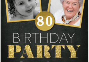 80th Birthday Celebration Invitations 20 Awesome Invites For An