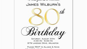 80th Birthday Celebration Invitations Golden Celebration 80th Birthday Invitations Paperstyle
