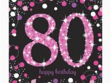80th Birthday Decorations Uk Pink Celebration Happy 80th Birthday Napkins