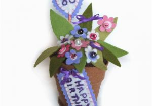 80th Birthday Flowers Plants 80th Birthday Milestone Gift Of Pink and Purple by