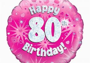 80th Birthday Flowers Plants Gift Delivery 80th Birthday Pink Balloon isle Of Wight
