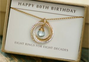 80th Birthday Gift Ideas For Her Mother December Birthstone Jewelry