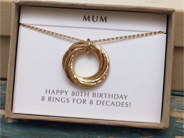 80th Birthday Gift Ideas For Her Mum Gold