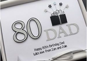 80th Birthday Gifts for Husband Personalised 80th Birthday Card for Men Dad Husband
