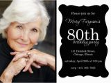 80th Birthday Invitation Templates Free 80th Birthday Party Invitations Template Best Template