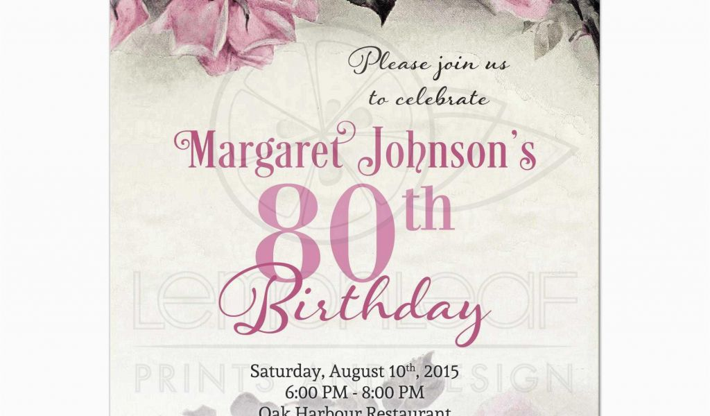 Download By SizeHandphone Tablet Desktop Original Size Back To 80th Birthday Invitation Templates Free Printable