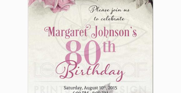 80th Birthday Invitation Templates Free Printable 80th Birthday Party Invitations Party Invitations Templates