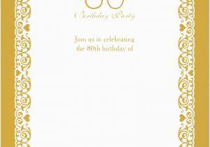 80th Birthday Invitation Templates Free Printable Invitations Bagvania