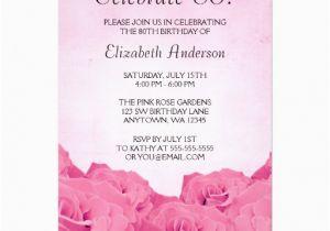 80th Birthday Invitation Templates Free Printable Invitations